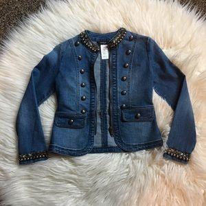 🎉HP! Bebe Embellished Jean Jacket